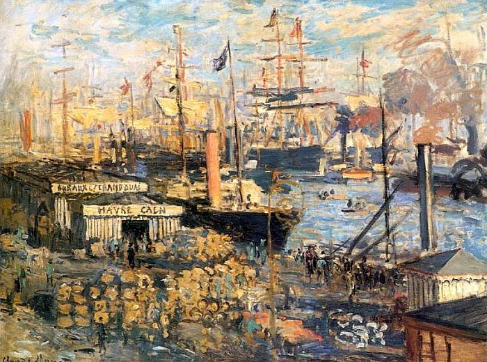 Le Grand Quai au Havre de Claude Monet, 1872