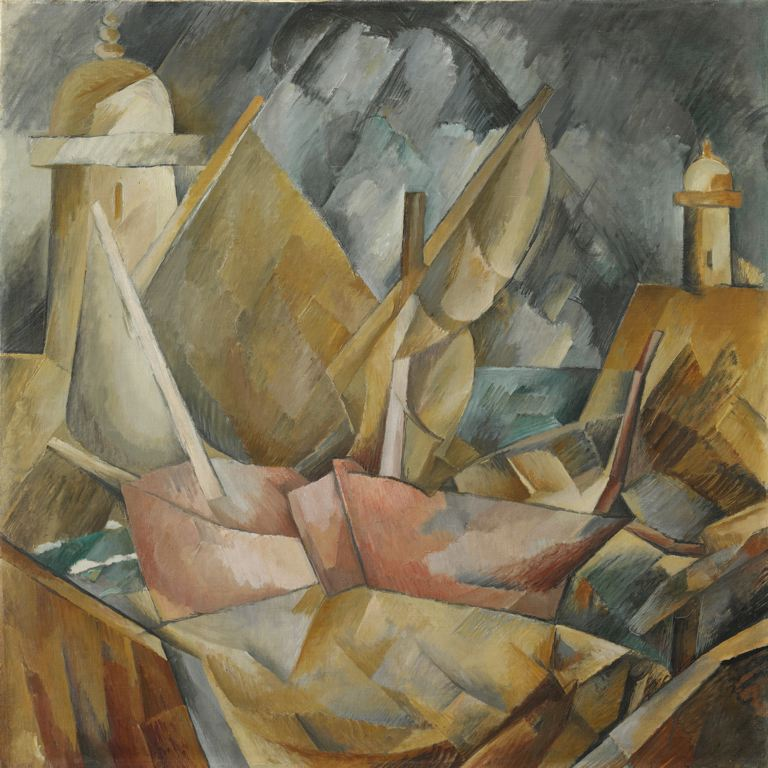 Port en Normandie de Georges Braque, 1909